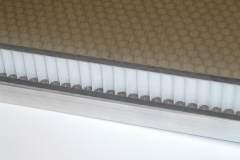Clear Polycarbonate Honeycomb Panel